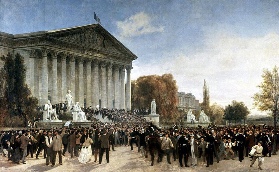 Le palais du Corps législatif, le 4 septembre 1870, par Jules Didier et Jacques Guiaud - voir en plus grand