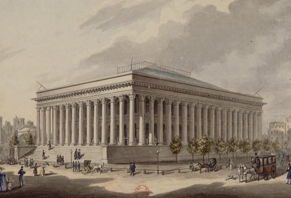 Grand Foyer Palais De La Bourse : Inauguration du palais brongniart prêt à abriter la