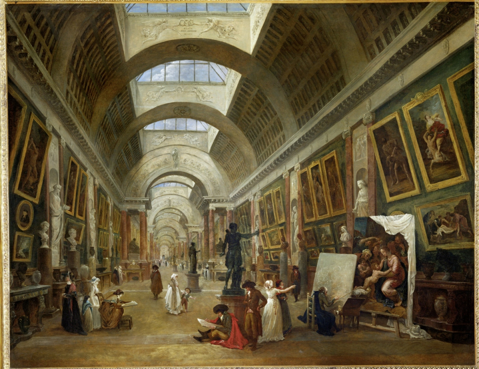 Projet d'aménagement de la Grande Galerie du Louvre. Robert Hubert, 1796 - voir en plus grand