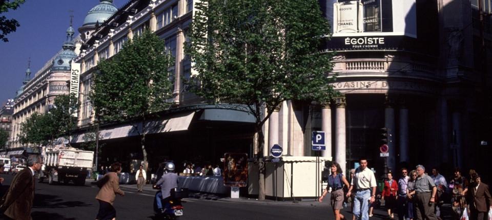 Le quartier du boulevard Haussmann à Paris