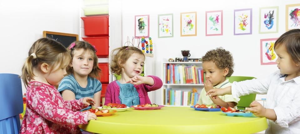 Photo d'enfants dans une crèche.