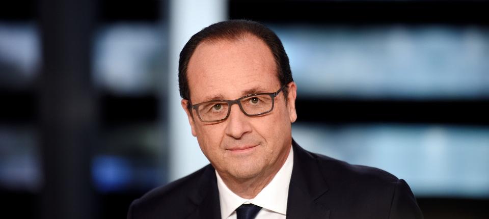 François Hollande sur le plateau d'En direct avec les Français sur TF1