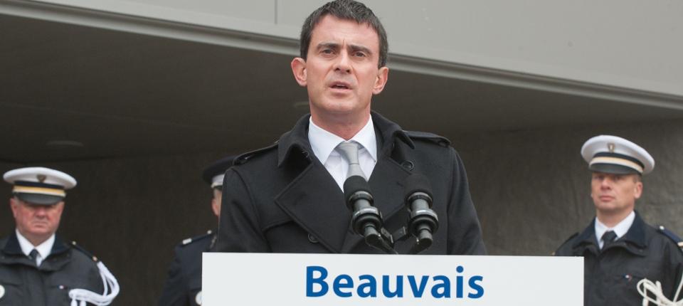 Photo du discours de Manuel Valls à Beauvais