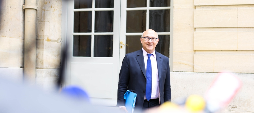 Photo de Michel Sapin à Matignon