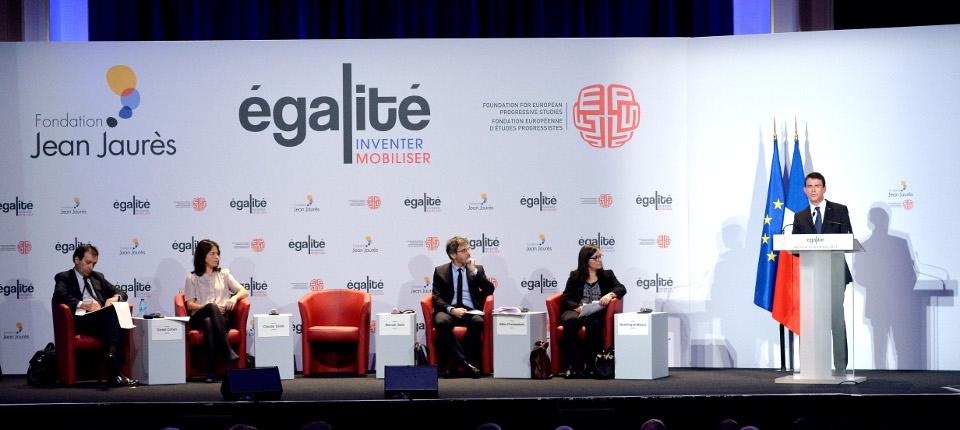 Manuel Valls à la conférence-debat sur l'égalité à la Fondation Jean Jaurès
