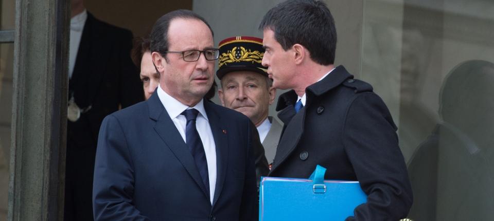 François Hollande et Manuel Valls à l'Elysée mercredi 21 janvier 2015