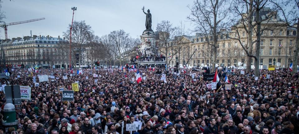 Le rassemblement Place de la République à Paris