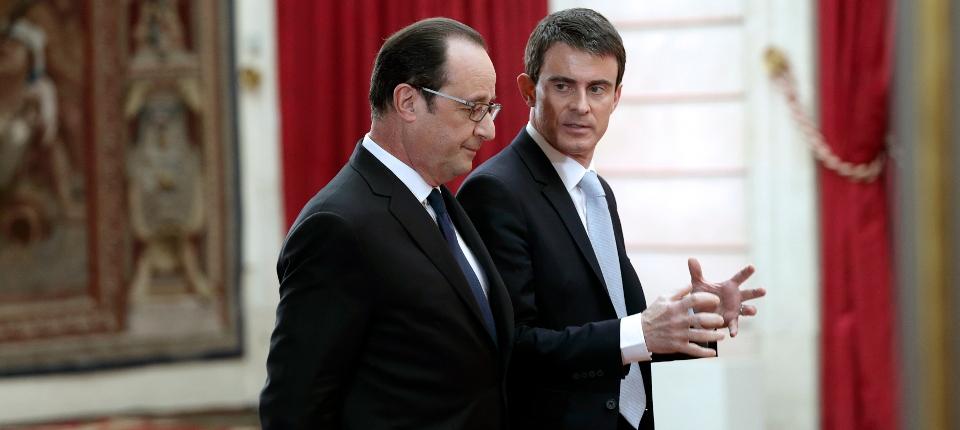 Photo du président de la République et de Manuel Valls le 5 février à l'Elysée