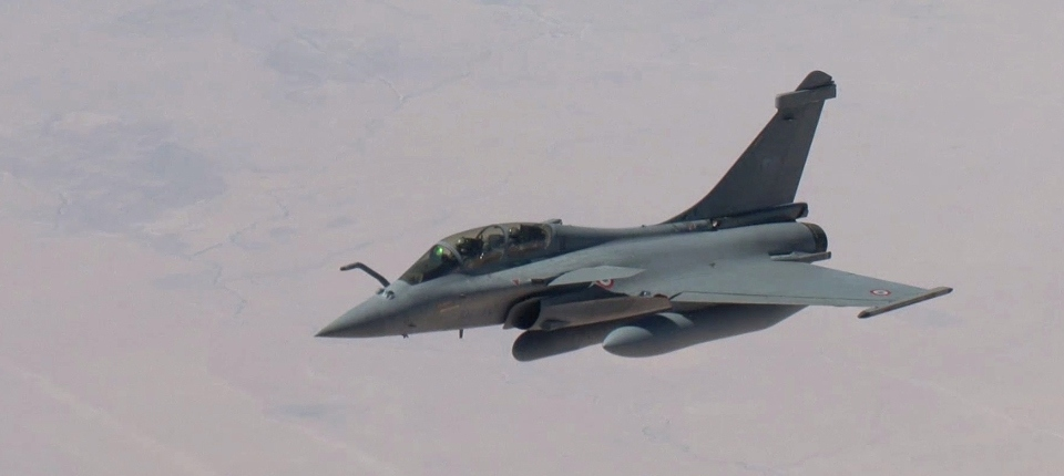 Photo d'un Rafale en opération en Irak.