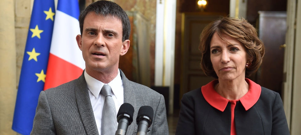 Photo de Manuel Valls et Marisol Touraine