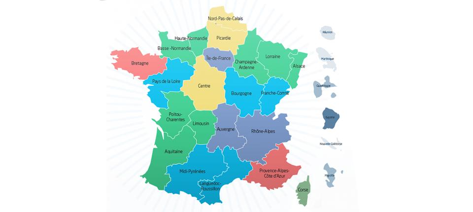 Carte de la France à 13 régions