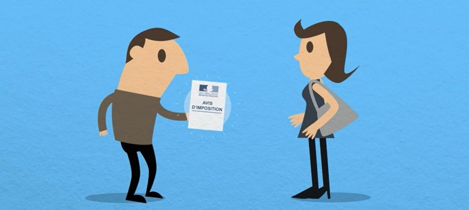 Vignette dessin sur l'impôt sur le revenu