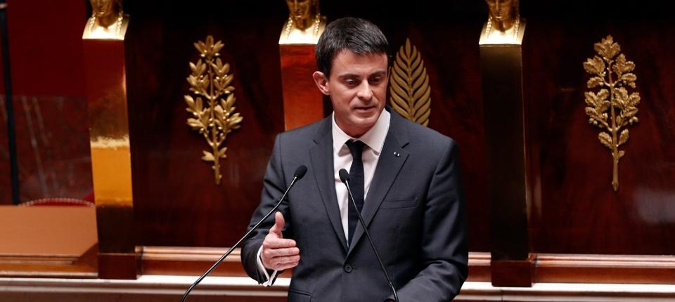 Photo de Manuel Valls à l'Assemblée Nationale le 13 avril 2015