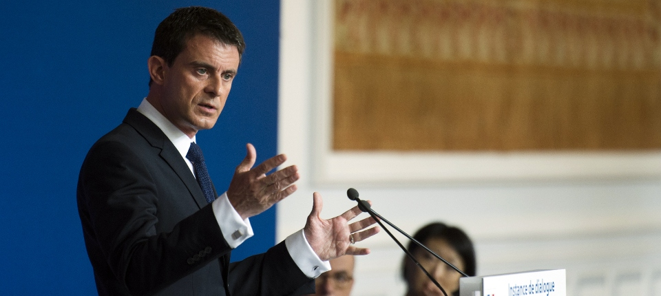 Photo de Manuel Valls lors de la création de la nouvelle Instance de dialogue avec les Français de confession musulmane