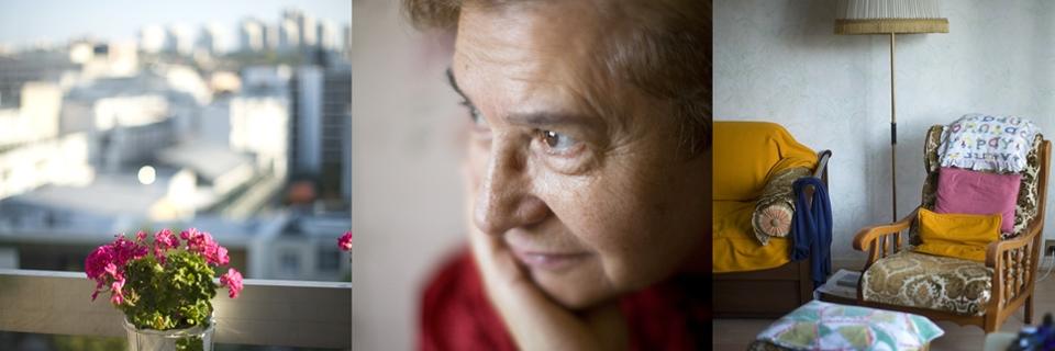 Photo d'une femme âgée vivant seule à Paris