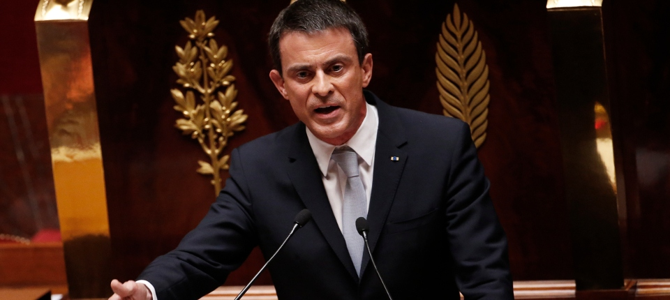 Photo de Manuel Valls à l'Assemblée nationale le 15 juillet 2015