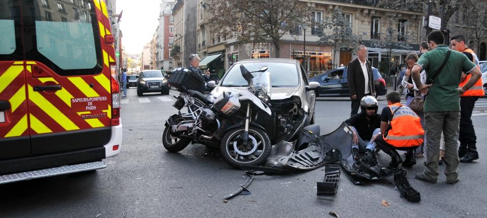 Photo d'un accident de la route