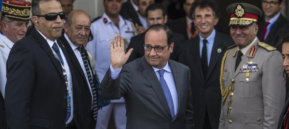 Photo de François Hollande lors de l'inauguration du nouveau Canal de Suez