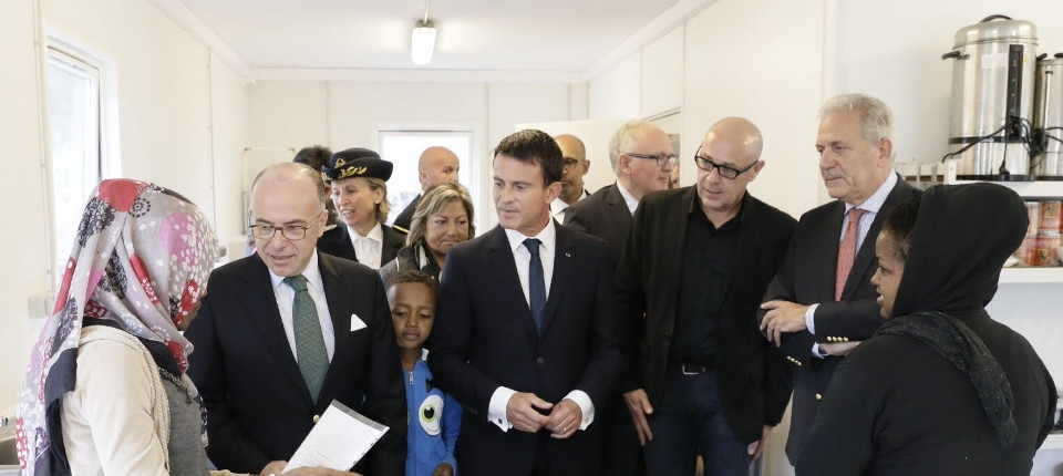 Manuel Valls à Calais le 31 août 2015