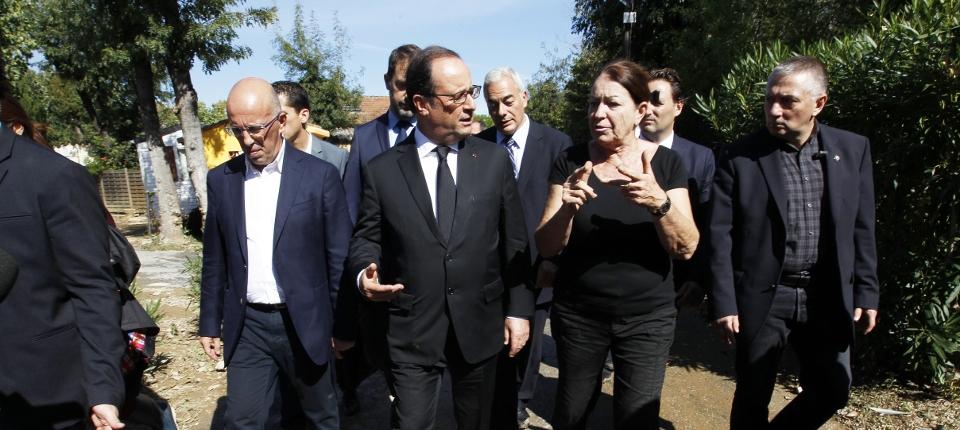 François Hollande en déplacement dans le département des Alpes-Maritimes