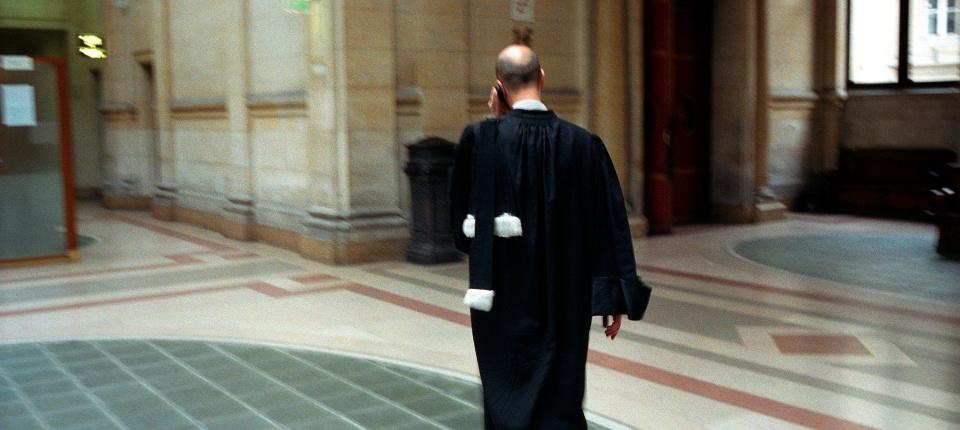 Avocat au palais de justice