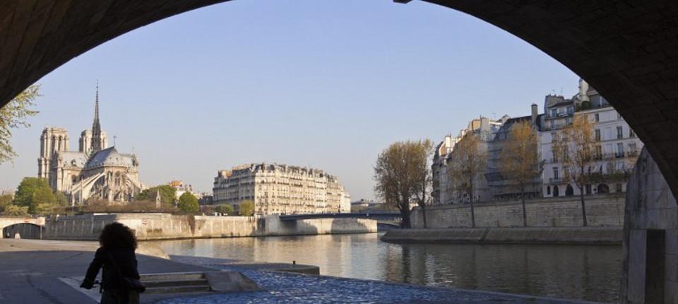 Quai de seine : vue sue Notre dame de Paris