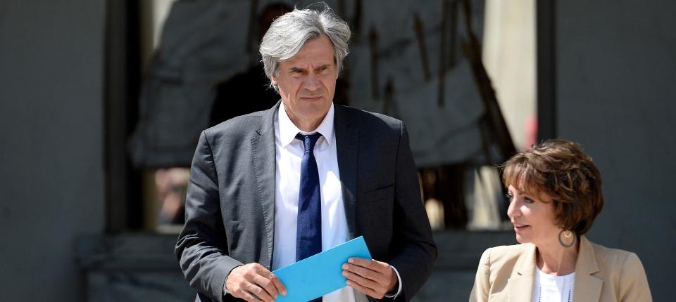 Stéphane Le Foll et Marisol Touraine à la sortie du Conseil des ministres