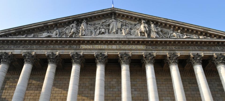 Façade de l'Assemblée nationale