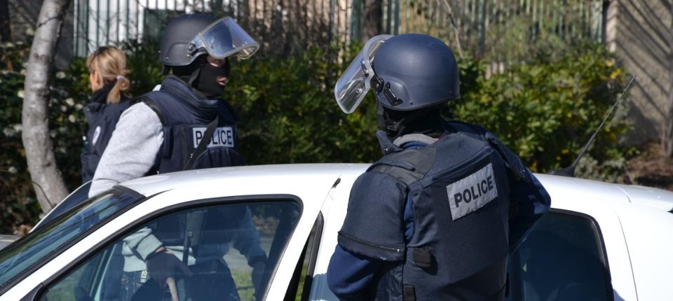Photo de policiers à Marseille