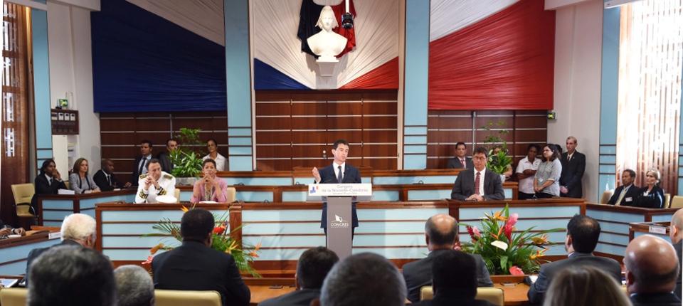 Manuel Valls au Congrès de la Nouvelle-Calédonie, le 29 avril 2016
