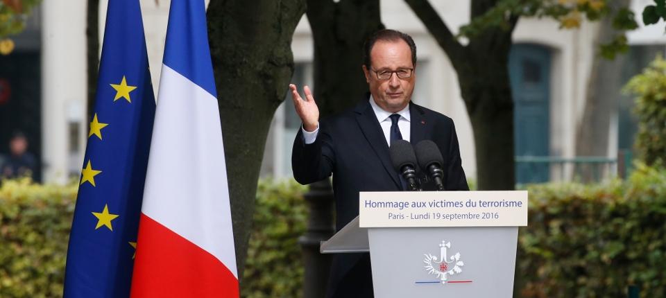 Photo du président François Hollande lors de la cérémonie d'hommage aux victimes du terrorisme le 19 septembre 2016