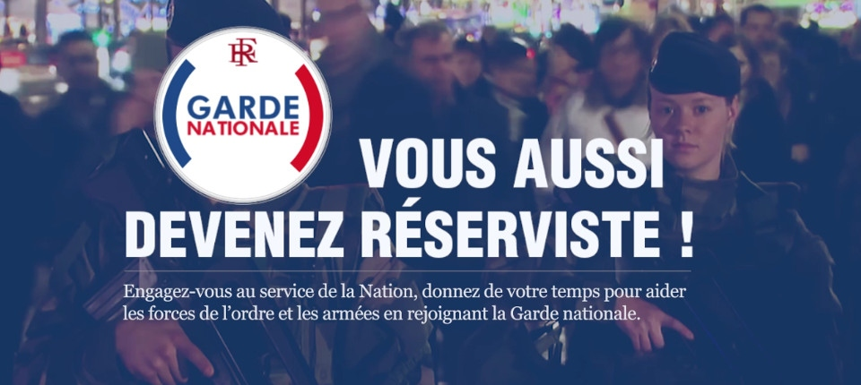 Garde nationale : visuel du site dédié