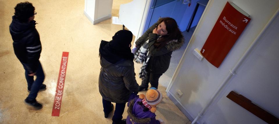 Femmes dans une structure d'accueil