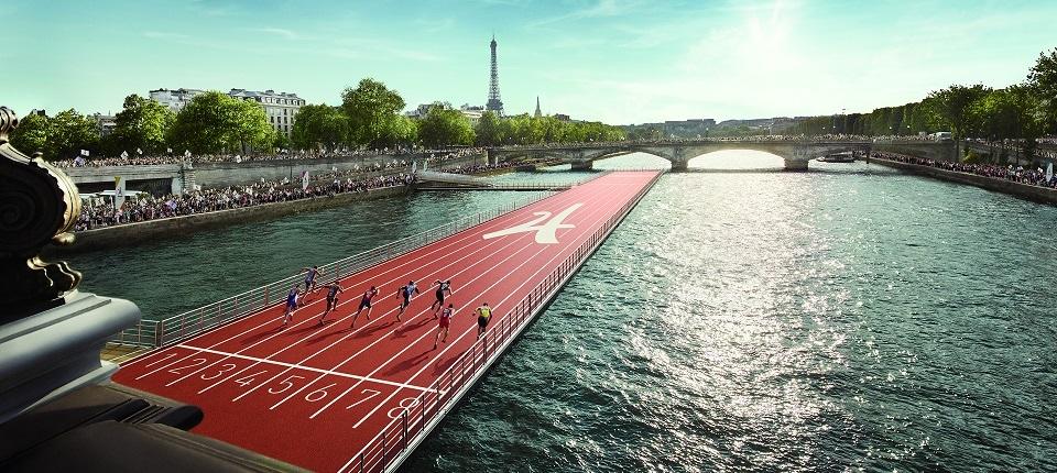 Barge sur la Seine
