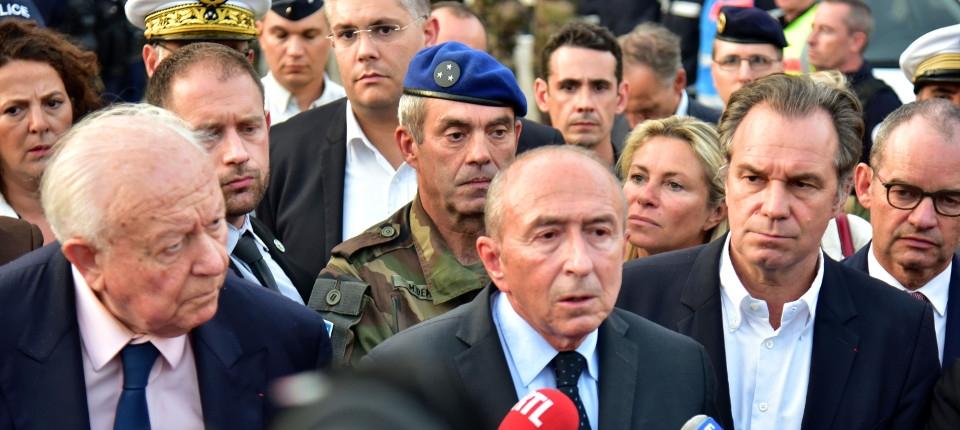 Gérard Collomb, ministre de l'Intérieur, répond à la presse, suite à l'attaque à Marseille