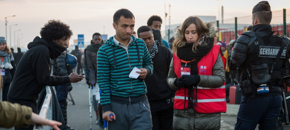 Migrants pris en charge à Calais