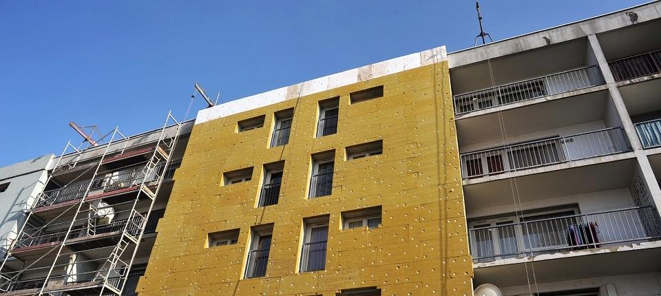 Immeuble en rénovation thermique