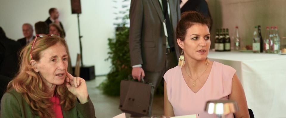 Nicole Belloubet, garde des sceaux et Marlène Schiappa, secrétaire d'État chargée de l'Égalité entre les femmes et les hommes