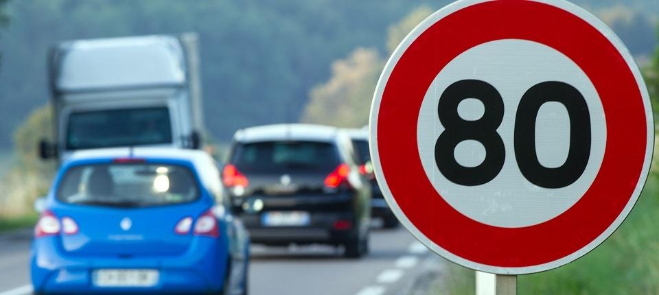 Limitation à 80km/h