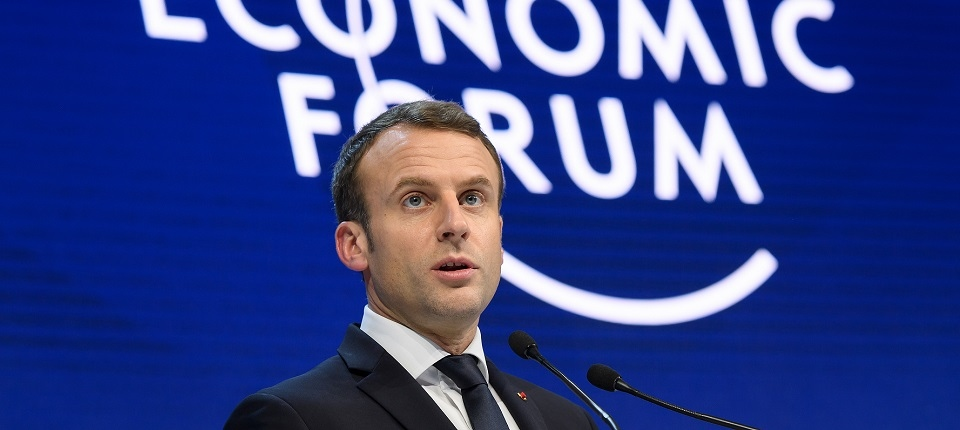 Emmanuel Macron au World Economic Forum