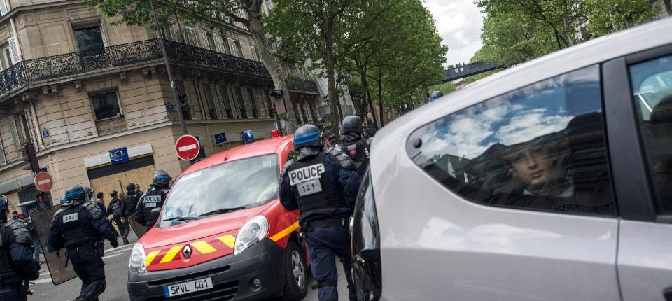 Forces de l'ordre, le 1er mai 2018 à Paris