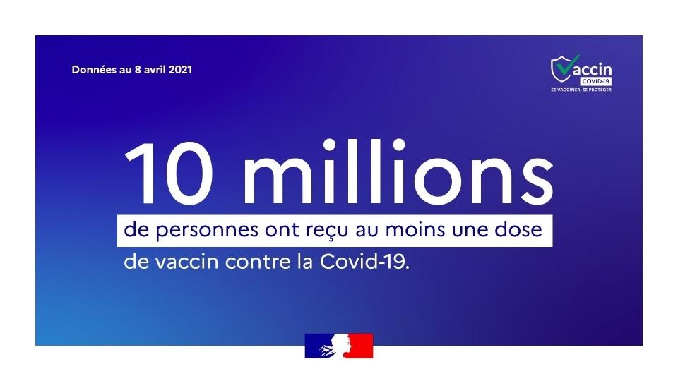 Message sur les 10 millions de vaccinations