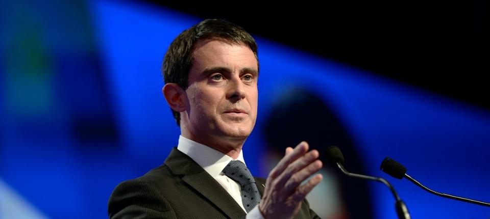 Photo de Manuel Valls au Congrès des maires de France le 27 novembre 2014