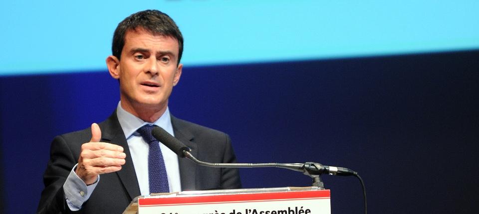 Manuel Valls devant le 84e Congrés des Départements de France