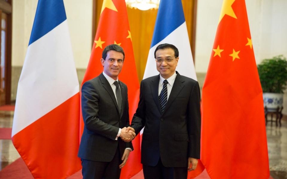 Manuel Valls et son homologue chinois Li Kieqang