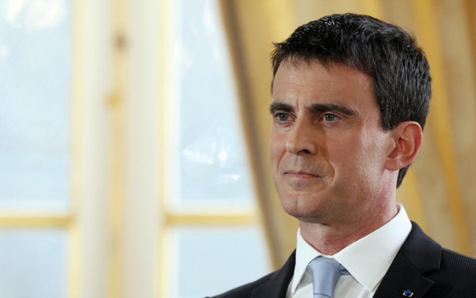 Portrait de Manuel Valls, photo prise le 20 janvier 2015 à Matignon