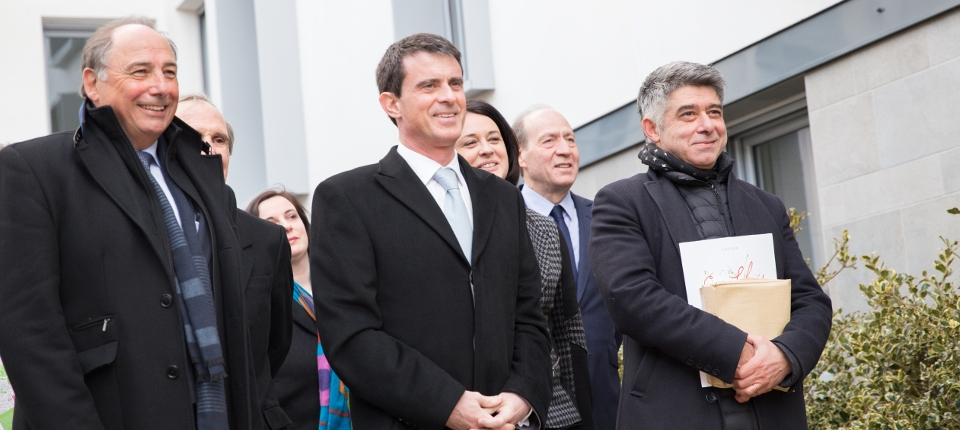 Manuel Valls et Sylvia Pinel à Cachan