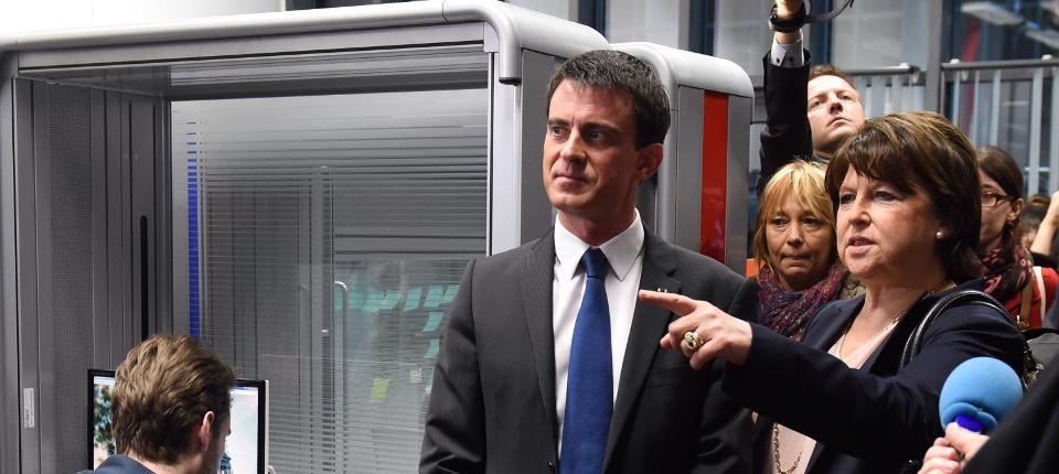 Manuel Valls et Martine Aubry visitent le pôle Euratechnologies