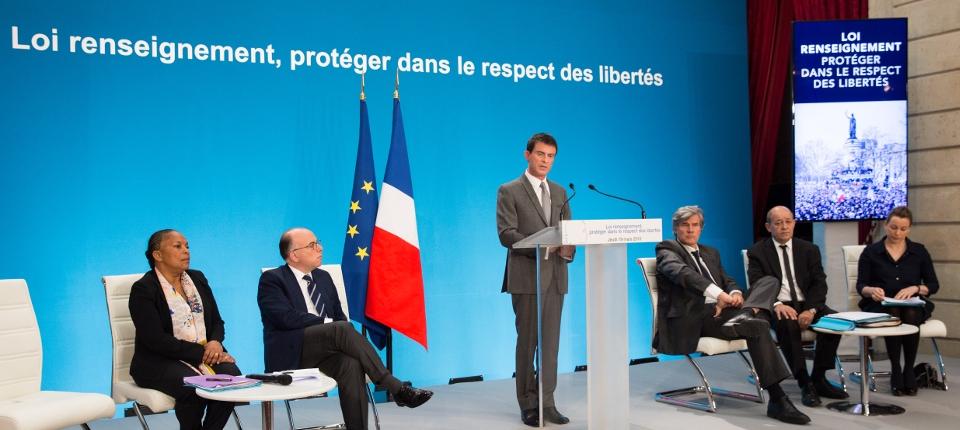 Manuel Valls présente le projet de loi relatif au renseignement