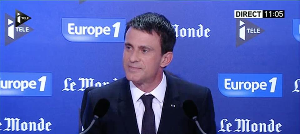 Manuel Valls au micro du Grand Rendez-vous Europe 1, iTélé, Le Monde le 28 juin
